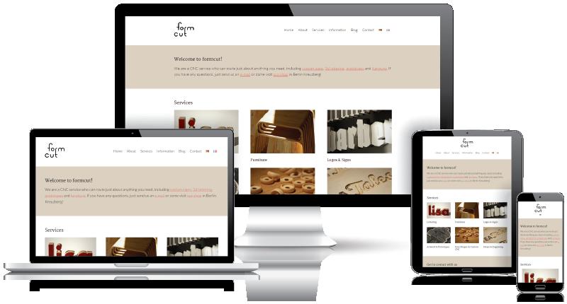 formcut Responsive Website