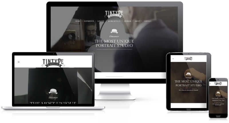 Tintype Berlin responsive website