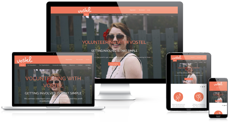 Vostel responsive website